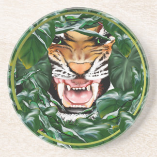 Tiger thru the leaves Coasters