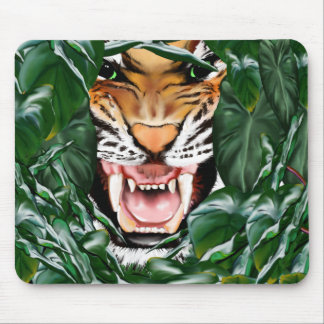 Tiger thru the leaves_Mousepad Mouse Pad