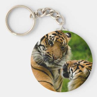 Tiger tiger basic round button keychain