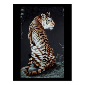 Tiger Tiger Burning Bright Postcard