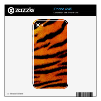 TIGER, TIGER BURNING BRIGHT - TIGER STRIPES too! iPhone 4S Decal