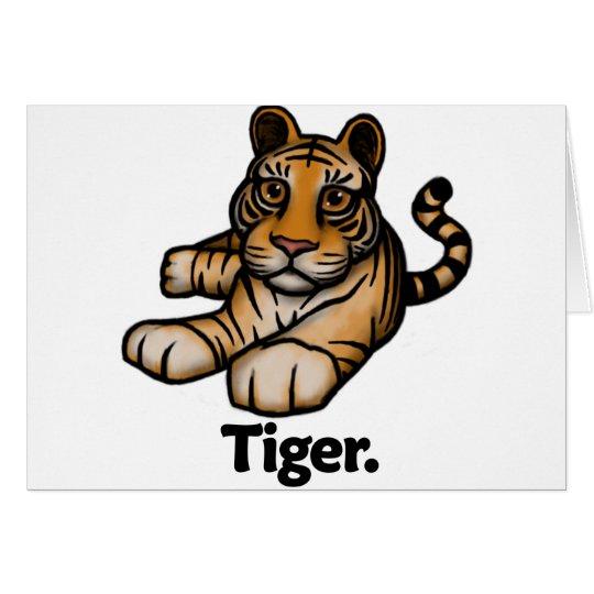 Tiger Tiger. Card