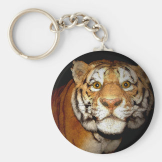 Tiger, Tiger In The Night II Keychain
