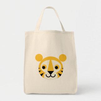Tiger Tigers Big Cat Cats Cute Head Smile Bags