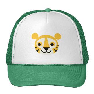 Tiger Tigers Big Cat Cats Cute Head Smile Trucker Hat