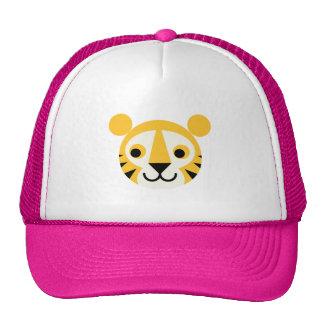 Tiger Tigers Big Cat Cats Cute Head Smile Mesh Hats