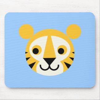 Tiger Tigers Big Cat Cats Cute Head Smile Mouse Pad