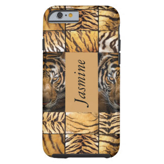 Tiger Tigers Tan Print cats Tough iPhone 6 Case