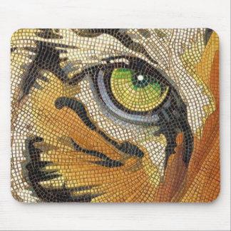 """Tiger Tiles"" Tiger Face Mosaic Watercolor Mouse Pad"