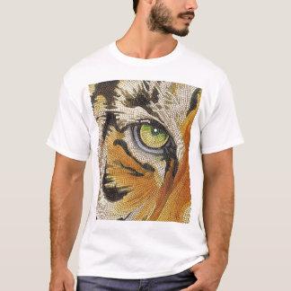 """Tiger Tiles"" Tiger Face Mosaic Watercolor T-Shirt"