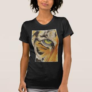 Tiger Tiles Tiger Face Mosaic Watercolor T Shirt