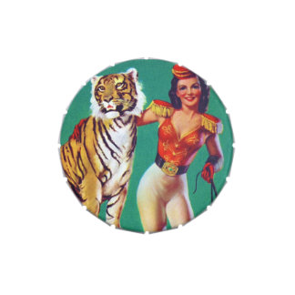 Tiger Trainer Pin-Up Girl Jelly Belly Candy Tin