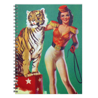 Tiger Trainer Pin-Up Girl Notebook