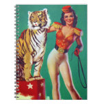 Tiger Trainer Pin-Up Girl Spiral Note Book
