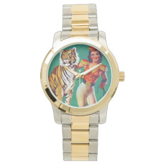 Tiger Trainer Pin-Up Girl Wrist Watch