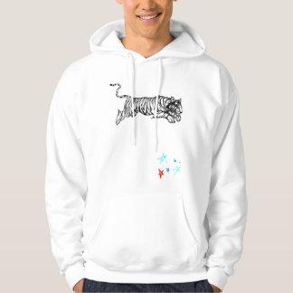 tiger tribal hoodie