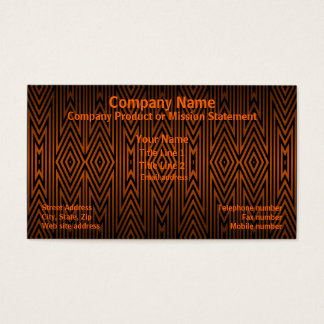 Tiger Tribal Pattern Business Card