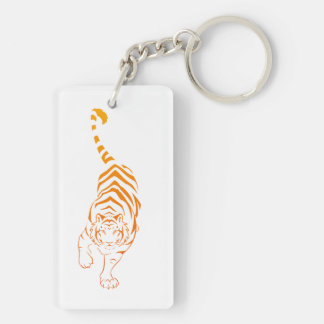 Tiger Tribal Stalking Keychain