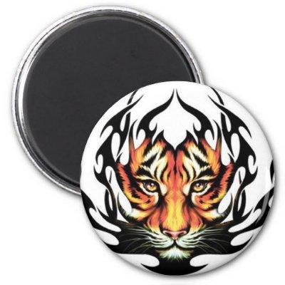 tiger tribal tattoo. Tiger Tribal Tattoo magnet by