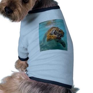 Tiger Underwater Dog Shirt