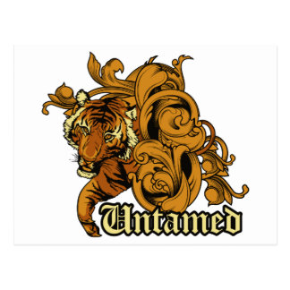 Tiger Untamed ~ Flowers Customize Gift Template Postcard