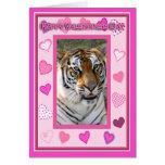 Tiger Valentine Card