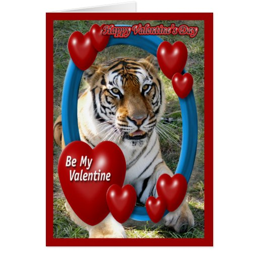 tiger valentine cards