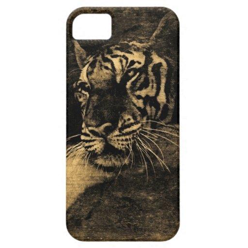 Tiger Vintage Art iPhone 5 Case