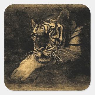 Tiger Vintage Art Sticker