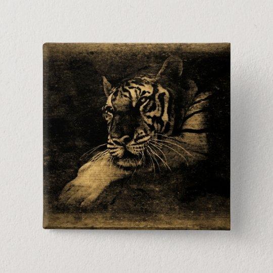 Tiger Vintage Button
