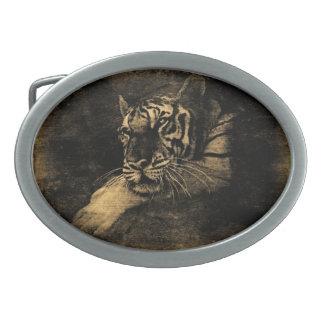 Tiger Vintage Fine Art Belt Buckle