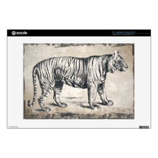 "Tiger Vintage Wildlife Grunge Decorative Skin For 13"" Laptop"