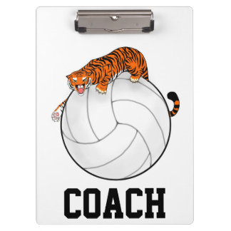 Tiger Volleyball Clipboard, coach clipboard