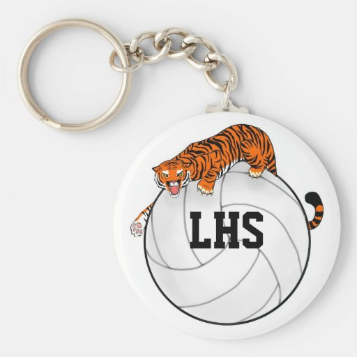 Tiger Volleyball Keychain