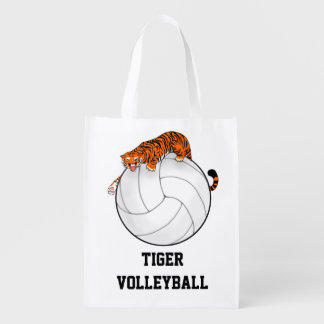 Tiger Volleyball team reusable tote bag
