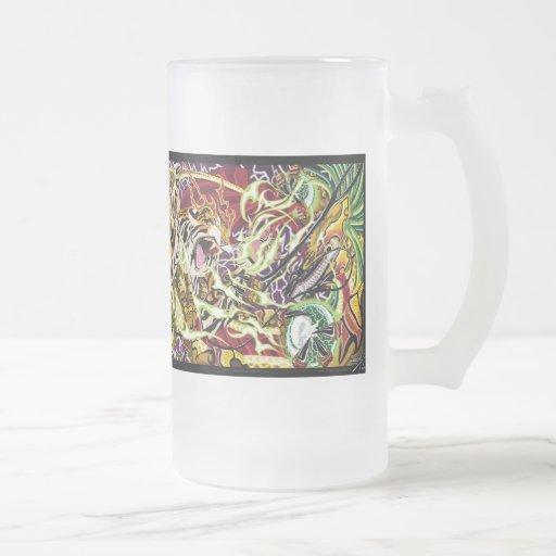 Tiger VS Dragon Frosted Mug