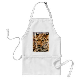 Tiger waiting for mom love adult apron