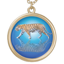 TIGER WALK GOLD PLATED NECKLACE