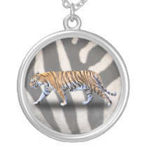 TIGER WALK SILVER PLATED NECKLACE