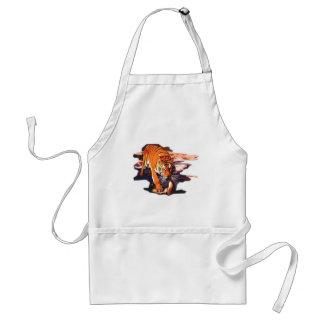 Tiger Walking Adult Apron