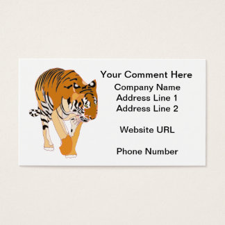 Tiger Walking Customize Business Cards
