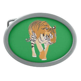 Tiger Walking Digital Painting Belt Buckle