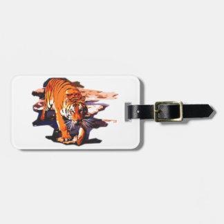 Tiger Walking Travel Bag Tags