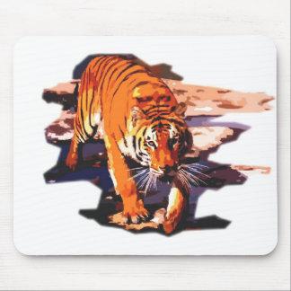 Tiger Walking Mouse Pad