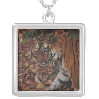 Tiger Walking on Dead Leaves Custom Jewelry