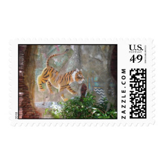 Tiger Wall Postage Stamp