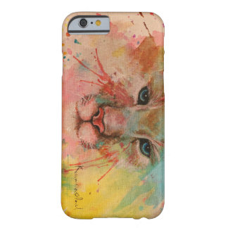 Tiger water color wind paint art picture colorful barely there iPhone 6 case