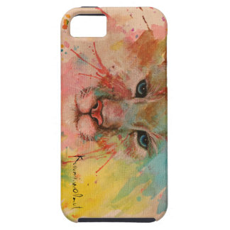 Tiger watercolor paint cover water color wind art