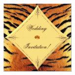 Tiger Wedding Invitation