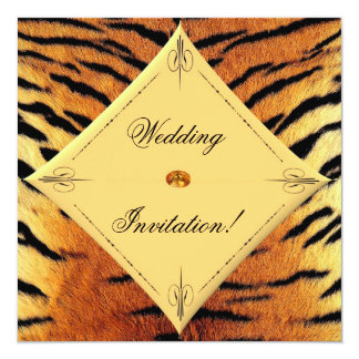 Tiger Wedding Invitation